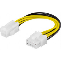 Adapter cable DELTACO 4pin, ATX12V to 8-pin EPS12V / SSI-44