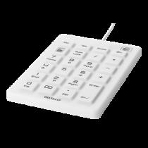 DELTACO Silicon Numpad, IP68, 23 ключа, USB, белый