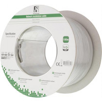Cable DELTACO 100m, 100MHz, gray / TP-40
