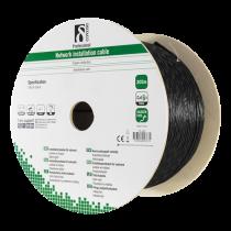 Cable DELTACO U/FTP Cat6a, 305m, 500MHz, black / TP-49C