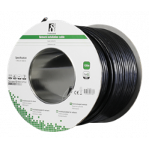 DELTACO F / UTP Cat6 Installation Cable, For Outdoors, 100m Roll, 250MHz, Delta Certified, Black TP-49F