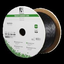 Установочный кабель DELTACO S / FTP Cat6a, для наружного применения, 305м, черный