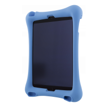 "DELTACO silicone shell for iPad Air, Air 2, iPad Pro 9.7 ""and iPad 9.7"", stand, camera window, cutouts, blue / TPF-1300"