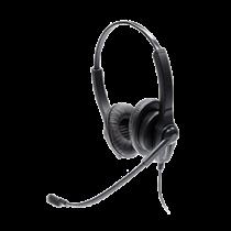 Accutone UB202 Стереогарнитура, регулировка громкости и отключение звука, черный