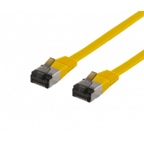 Cable DELTACO Cat6a, 5m, 1.9mm, 500MHz, yellow / UFTP-2063