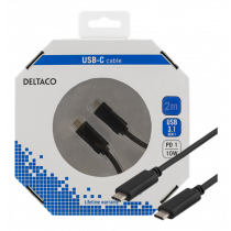 "Cable DELTACO USB 3.1 ""C - C"", 2m, black /  USBC-1056-K"