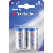 Batteries Verbatim  C (LR14), 2-pack Alkaline, 1.5 V / V49922