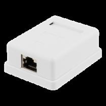 Shielded network socket, Surface FTP 1xRJ45, Cat6 DELTACO / VR-216