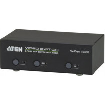 ATEN VGA-Switch 2 компьютера для 1 экрана, HD-15 ho / ha, 3,5 мм, RS232, ответ
