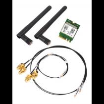 Shuttle WLN-M WLAN kit, 802.11b / g / n / ac, M.2-2230 card, incl. cables and antennas, 2.4 / 5GHz, 580Mbps, Bluetooth 4.0 POZ-WLNM01 / WLN-M