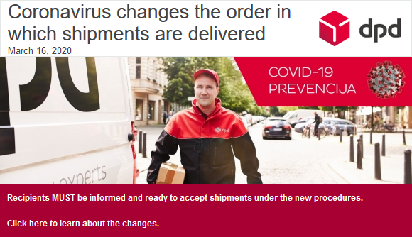 Coronavirus changes the order in which shipments are delivered